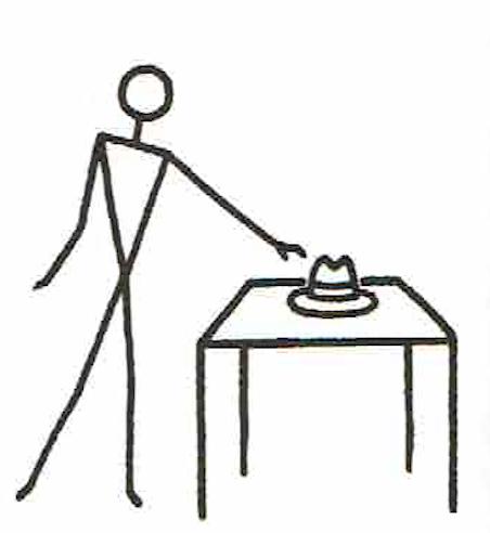 GDM英語教授法で使用する、Stick Figureの例②
