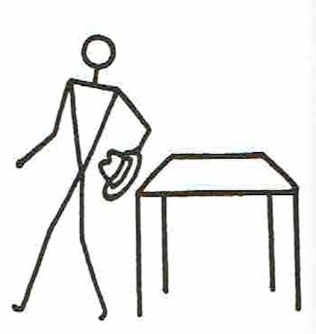 GDM英語教授法で使用する、Stick Figureの例④